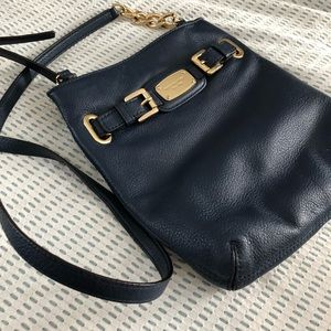 Blue Leather Michael Kors Crossbody Bag